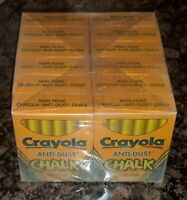 VTG Crayola Anti-Dust Chalk Yellow Sight Saver 12 Pack #1401 NOS SEALED NEW