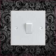 Black Floral Pattern Electrical Light Switch Surround Printed Vinyl Sticker
