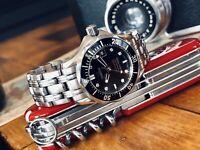 Omega Seamaster Professional 300m Black Diamond Dial 300m Quartz Lady watch