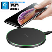 For iPhone XS/XR/X Samsung S9 S8 QI Wireless Fast Charger Charging Dock Pad Mat