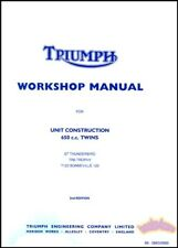 TRIUMPH 650 SHOP MANUAL SERVICE REPAIR BOOK WORKSHOP GUIDE TWIN UNIT