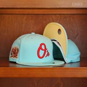 """Baltimore Orioles 50th Anniversary 59Fifty New Era Fitted """"Green Day BJA""""  7 5/8"""