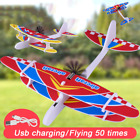 Electric Hand Foam Plane Glider Hand Throw Airplane Outdoor games xmas gift toys