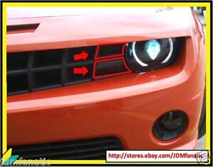 10-13 Chevy Camaro Smoke Front TURN SIGNAL Overlays Blinker TINT Vinyl PRECUT RS