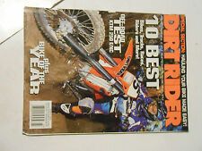 MARCH 2002 DIRT RIDER MAGAZINE,10 BEST ,TRACKS,BIKES,RACES,KTM 250E/XC,AMA,HAUL