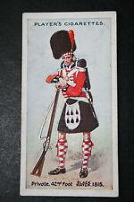 42nd Foot  Black Watch    British Army Original 1912 Vintage Card  VGC