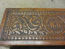 Vintage Ornate Sewing Trinket Wooden Box w Latch > Antique Boxes Sew 7524