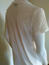 T shirt women top feminine openwork off-white small from dynamite ivory
