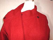 Jaeger Solid Red Brick LS Wool Lightweight Open Front Jacket Coat - 14