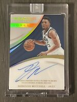 Donovan Mitchell 2017-18 Immaculate 1 Of 1 rookie auto, panini white box 1/1!