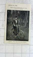1897 Girl And A Bicycle Photograph By Mr Varty Smith, Penrith