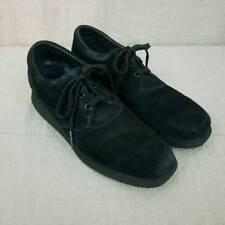 Drew Orthopedic Comfort Shoes Black Suede 10640 Lace Up Wedge Heel Women's 11 N