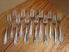 "World Tableware Metropolitan Flatware 12 Heavy 7.25"" Forks Marked 240"