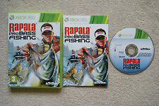 Rapala Pro Bass Fishing Xbox 360 Eccellente Stampa Italiana + Manuale NO IMPORT