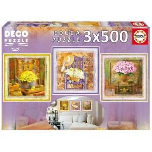 EDUCA DECO ART JIGSAW PUZZLE ENCHANTED MOMENTS GAIL MARIE 3X500 PCS #17095