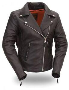 Ladies Womens Motorcycle Motorbike Racing Leather Jacket CE Armoured