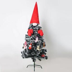 Tragbare Niedlichen Weihnachts Baum Topper Dress Up Baby Gesicht mit Hut Na L4J1