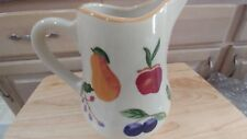 2000 Longaberger Pottery Fruit Medley Pitcher