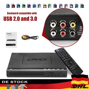 1080P HD DVD Player Fernbedienung Automatisch CD Spieler USB MP3 Video Kit DE