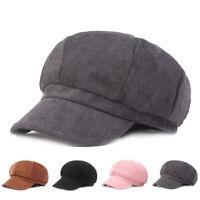 Unisex Autumn Winter Beret Octagonal Cap Hats Newsboy Caps Casual Beret Hats