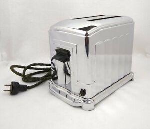 Vintage Toastmaster Model 185 Art Deco Stainless Steel Toaster