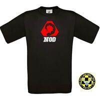 "Tshirt NOIR "" NOD "" red alert COMMAND AND CONQUER méchant BAD T SHIRT teeshirt"