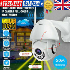 1080P HD WIFI IP Camera WHITE Wireless Outdoor CCTV  IR Cam 2MP Home Security UK