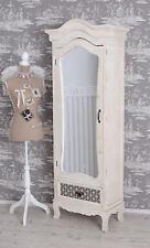 Armario estilo rústico Mueble de espejo armario Rústico Blanco Armario NUEVO