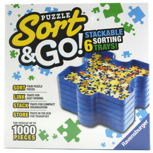 Ravensburger Jigsaw Puzzle Sorting Trays Sort and Go! Stackable Pack of 6