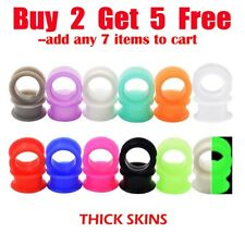 Pair-of-Thick-Ear Gauges Plugs-Soft Silicone Ear Flesh Tunnels-Ear Stretchers