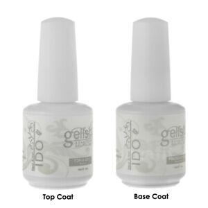 Dynamic Duo Base Foundation Top It Off Coat Soak Off UV Gel Polish GELISH IDO
