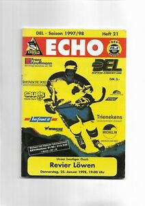 Stadionheft - Krefeld Pinguine vs Revier Löwen - DEL 22.01.1998 Heft #21