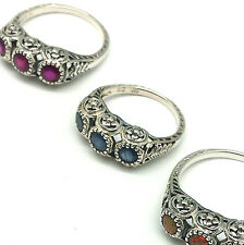 Gioielli di lusso rubino rubino argento