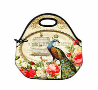 Peacock Portable Insulated Thermal Cooler Lunch Carry Tote Bag Storage Box