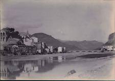 Italie, Vintimille, Vue panoramique  Vintage citrate print Tirage citrate