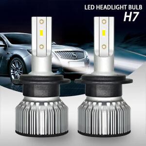 H7 CSP LED Headlight High Low Beam Bulb Kit 6000K White 55W 12000LM Super Bright
