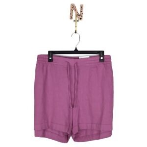 NEW Old Navy Linen Blend Shorts XXL Purple Elastic Waist Pull On Pockets