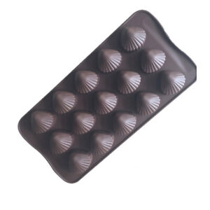 Sea Shells 15 Cell Silicone Chocolate Wax Melt Soap Jelly Ice Mould Cake Baking