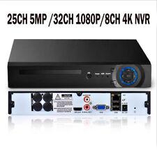 H.265 25CH 5MP/8CH 4K(8MP)/32CH 1080P CCTV NVR Support 1x6T HDD XMEYE HDMI VGA