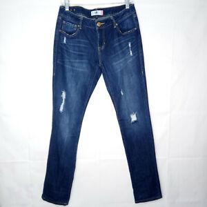 Cabi Slim Boyfriend Jeans Women Size 6 Distressed