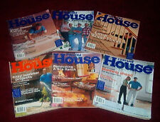 This Old House Magazine - 6 Issues 2000 WOODWORKING LANDSCAPING RENOVATING PAINT