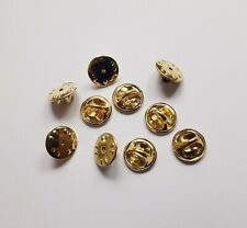 Ten (10) Pin Badge Butterfly Backs / Fixings / Clasp / Clips FREE Postage #b