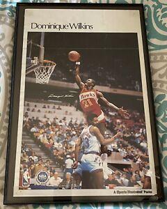 Vintage 1987 Dominique Wilkins Atlanta Hawks Sports Illustrated Poster HOF Dunk