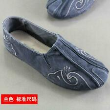 Men shoes Martial Arts Cloth Shoes Chinese Tai Chi Kung Fu Vintage Shoes Slip-on