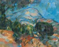 Mount Sainte-victoire Paul Cezanne Fine Art Print on Canvas Painting Repro Small