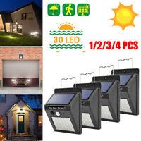 12/3/4pcs LED Solarleuchte mit Bewegungsmelder Solarstrahler Garten Außenleuchte
