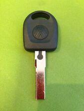 VW SEAT SKODA IGNITION VALET KEY WITH VIRGIN TRANSPONDER CUT FREE