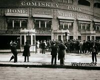 MLB 1910 Chicago White Sox Old Comiskey Park Black & White 8 X 10 Photo Picture