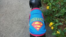 "dog/shirt/tank top, blue, Small,""Superman""(read details for size)"