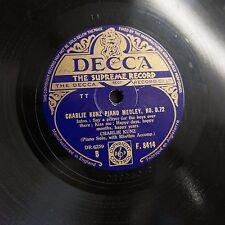 78rpm CHARLIE KUNZ piano medley D.72 , f 8414